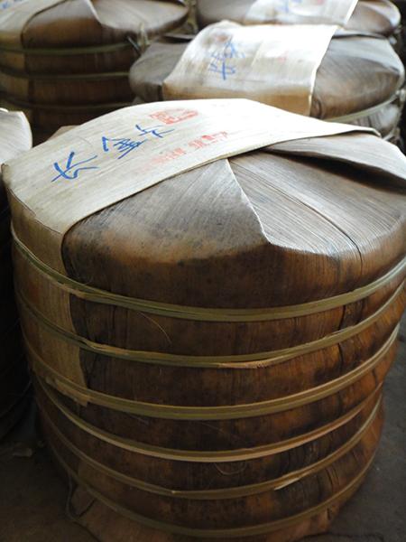 Frisch verpackte Pu Er für Länggasstee in Jinghong