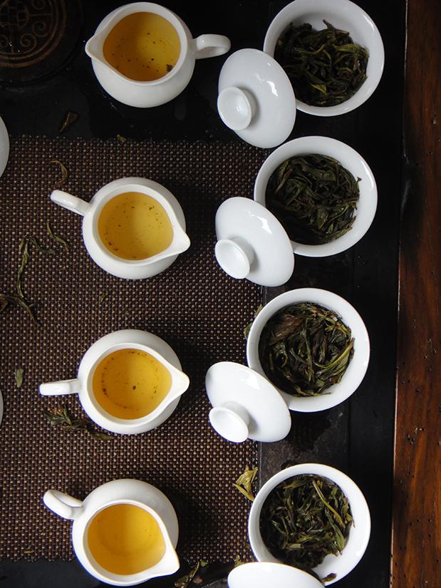 Degustation Fenghuang Dancoong - hier noch ungeröstet