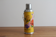 Product image for:Thermoskanne 1.2 L, gelb mit Rosenmotiv (1365)